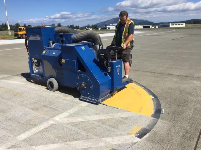 Shot blasting Victoria airport 1